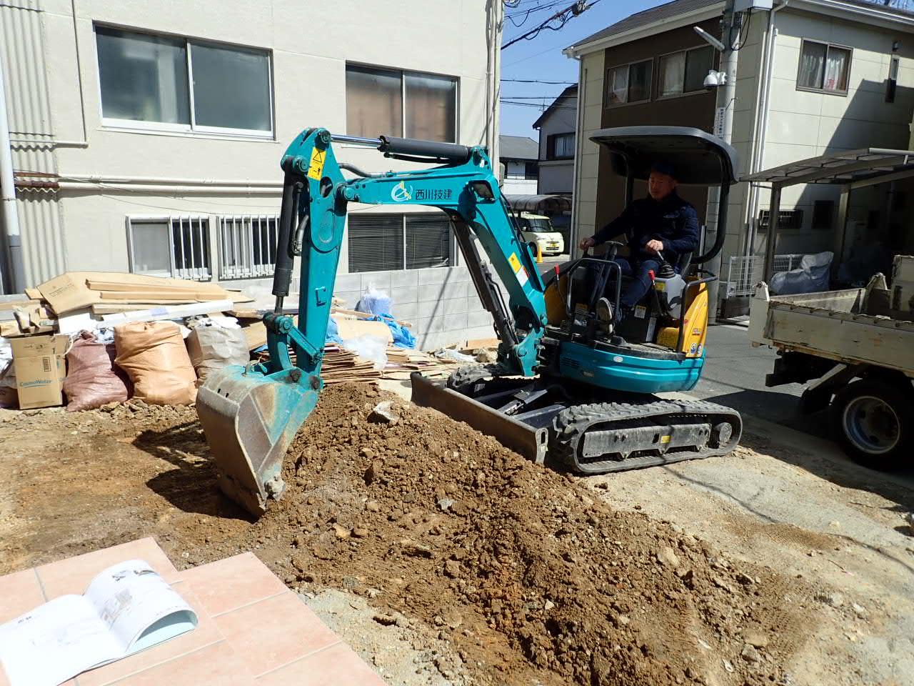 堺市西区 新築外構工事