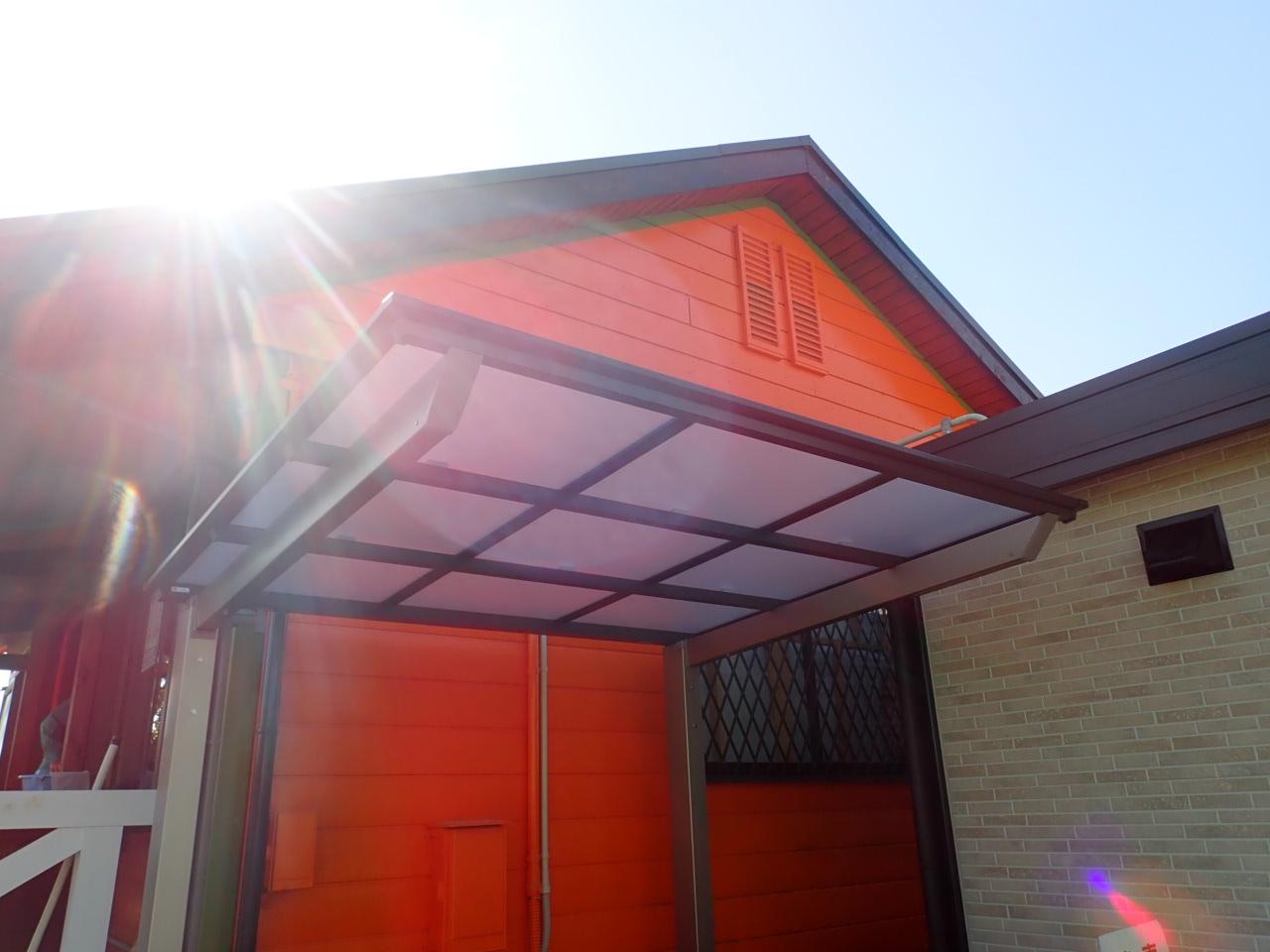 和泉市 テラス屋根とサイクルポート