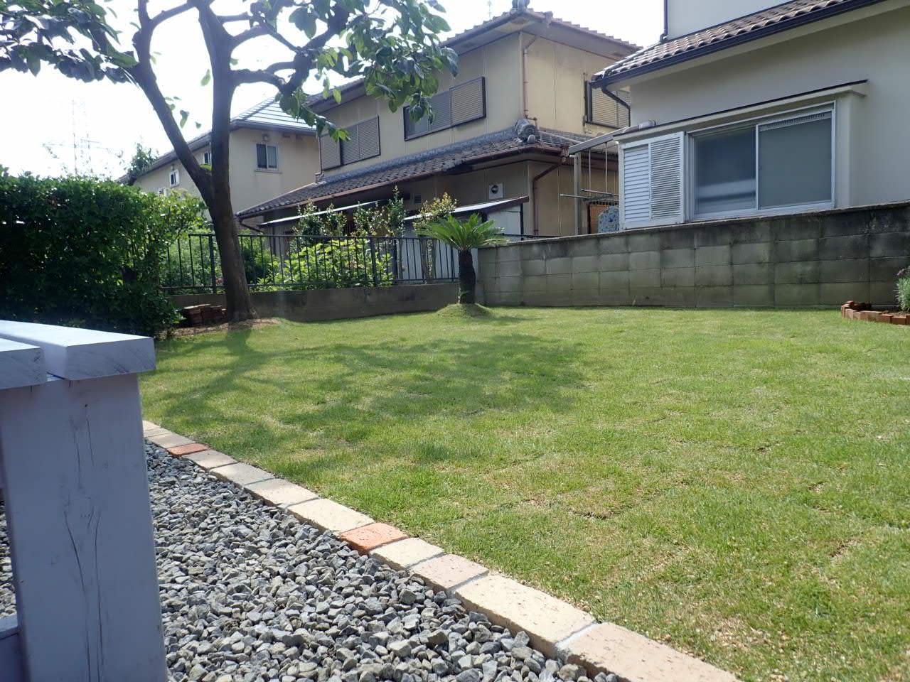 堺市南区 お庭スペースの遊び心地を向上させていただきました!