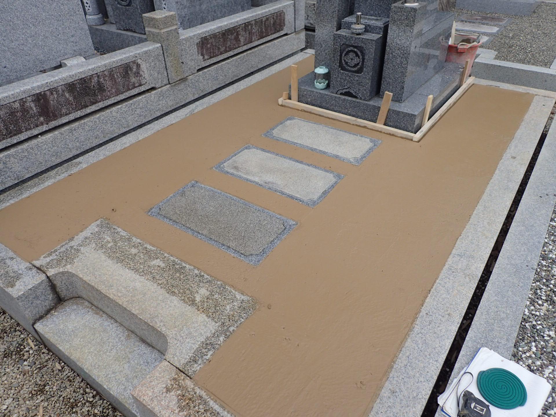 お墓の防草対策工事
