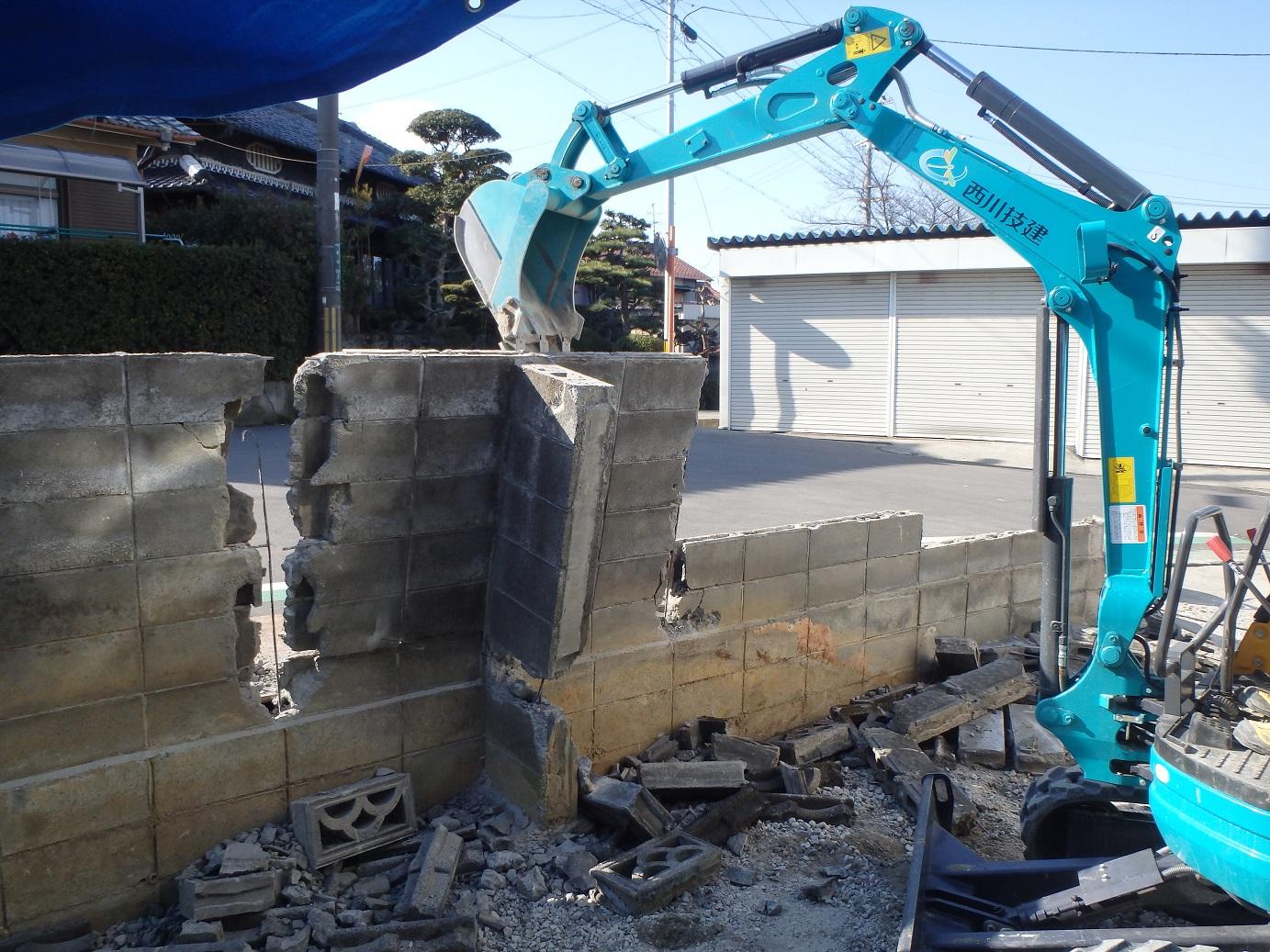 建て替え工事に伴う外構工事