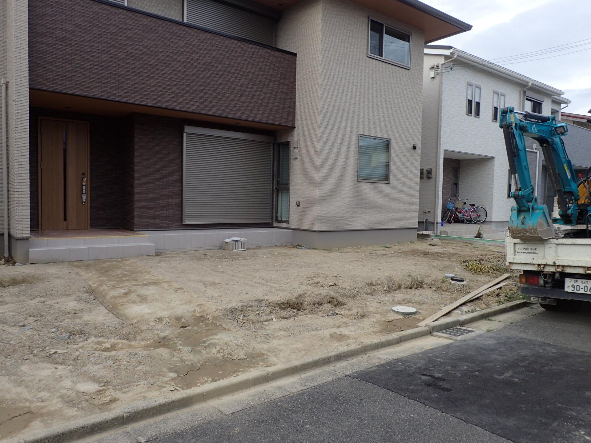 和泉市 新築外構工事スタートしました!