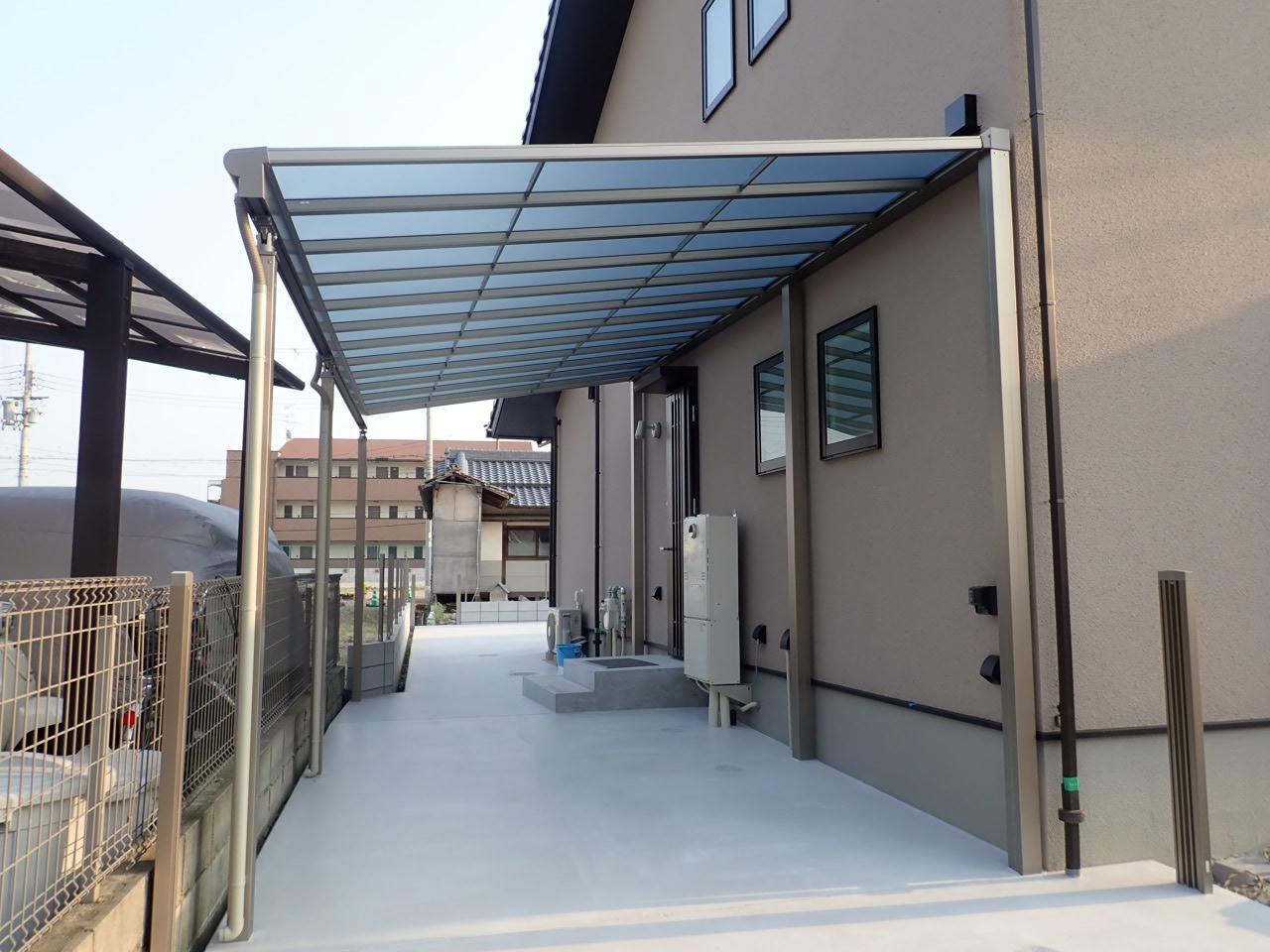 テラスやカーポート屋根の設置工事!