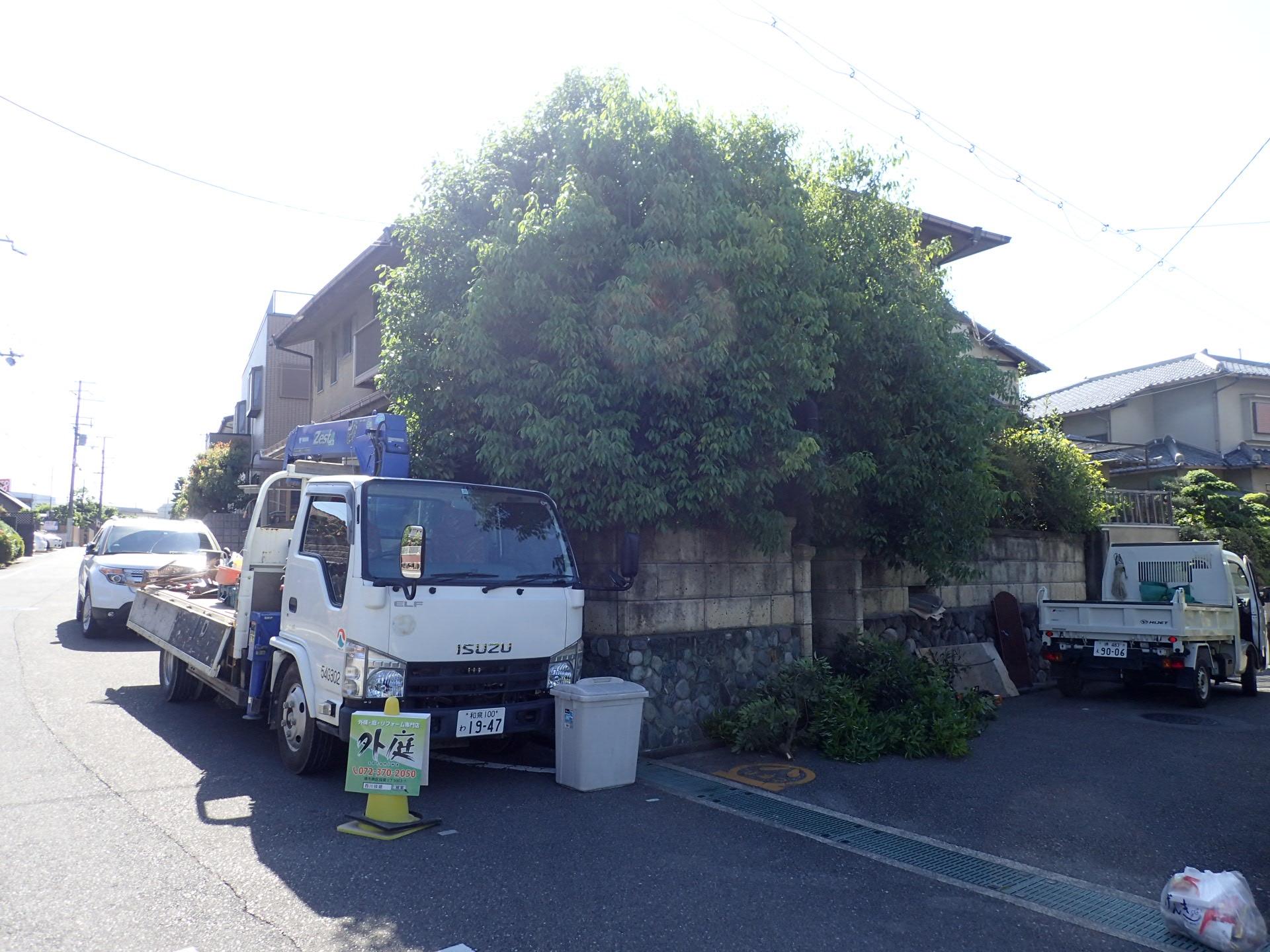 植木の断捨離!?堺市南区外構リフォーム完了です!