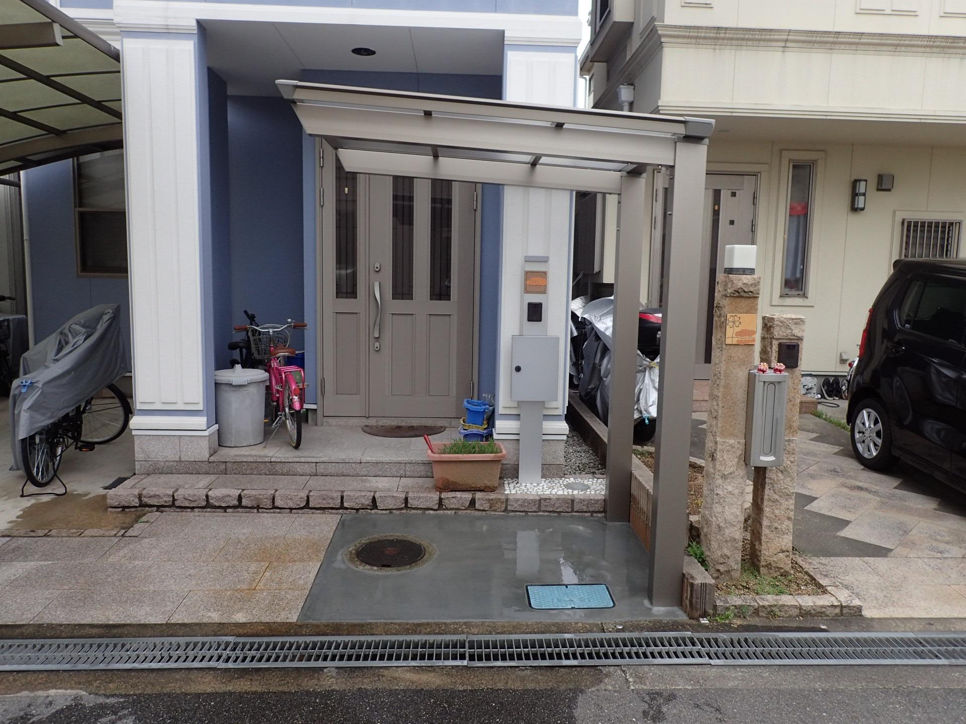 堺市美原区 駐輪スペース作りました!