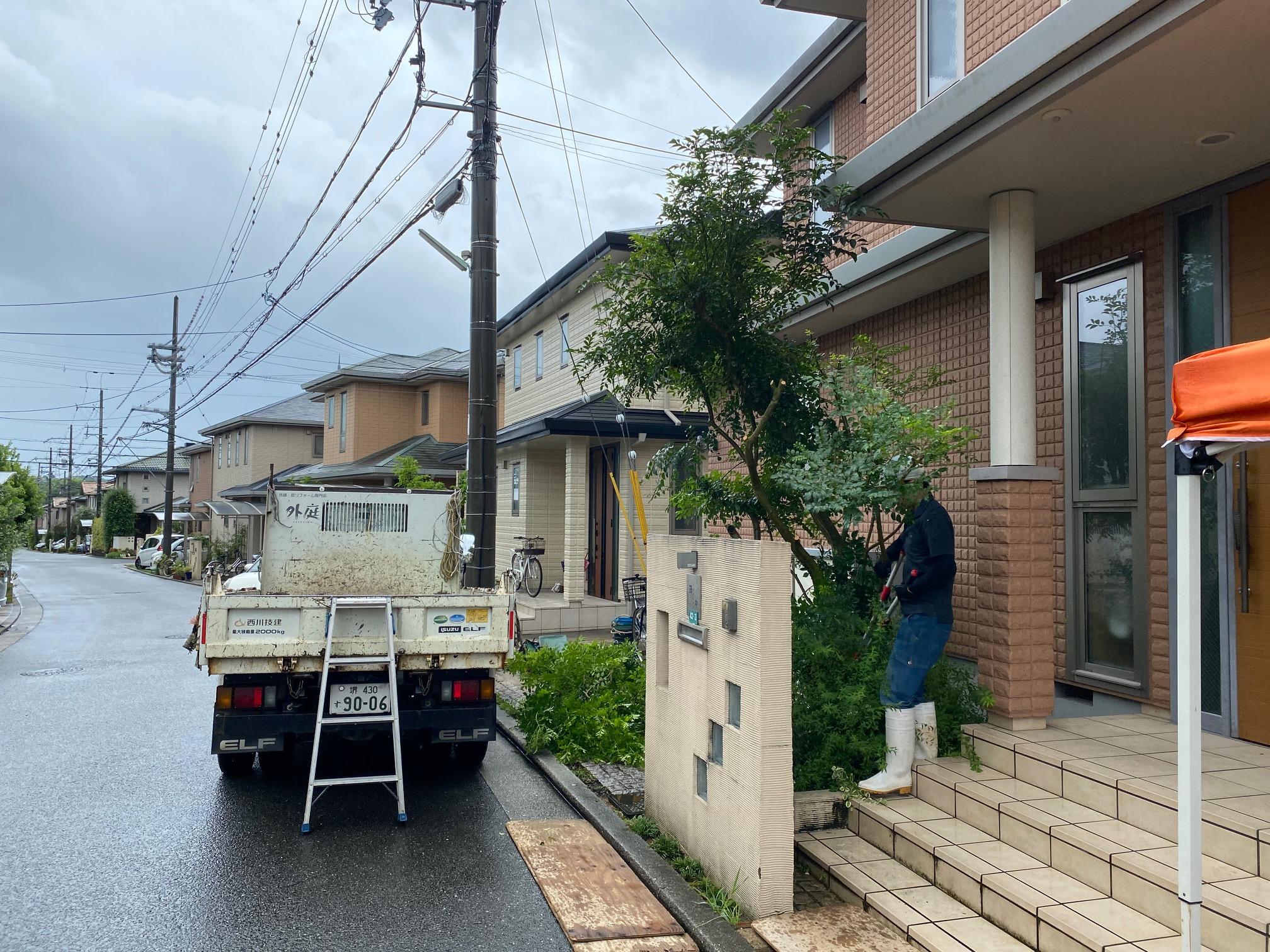 堺市南区 快適に使える外構リフォームスタートしました!