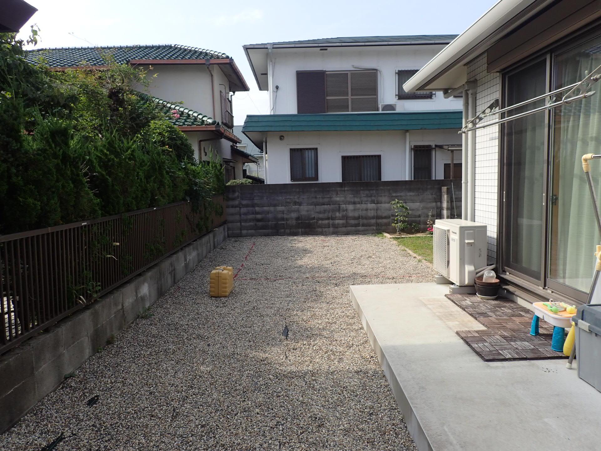 堺市南区 楽しく遊べるお庭リフォーム完成しました!