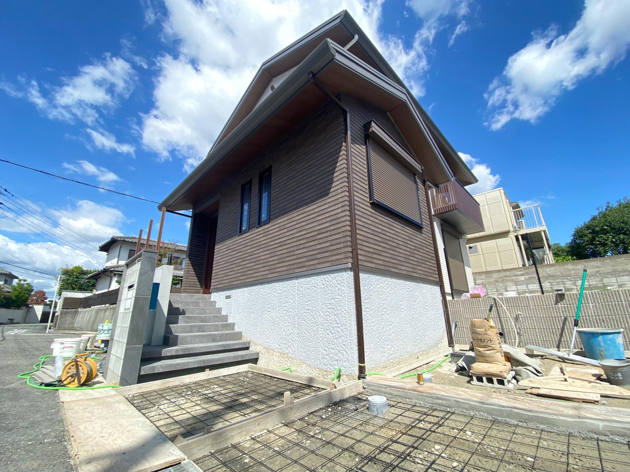 堺市南区 暮らしやすさを求めた外構工事 進捗状況